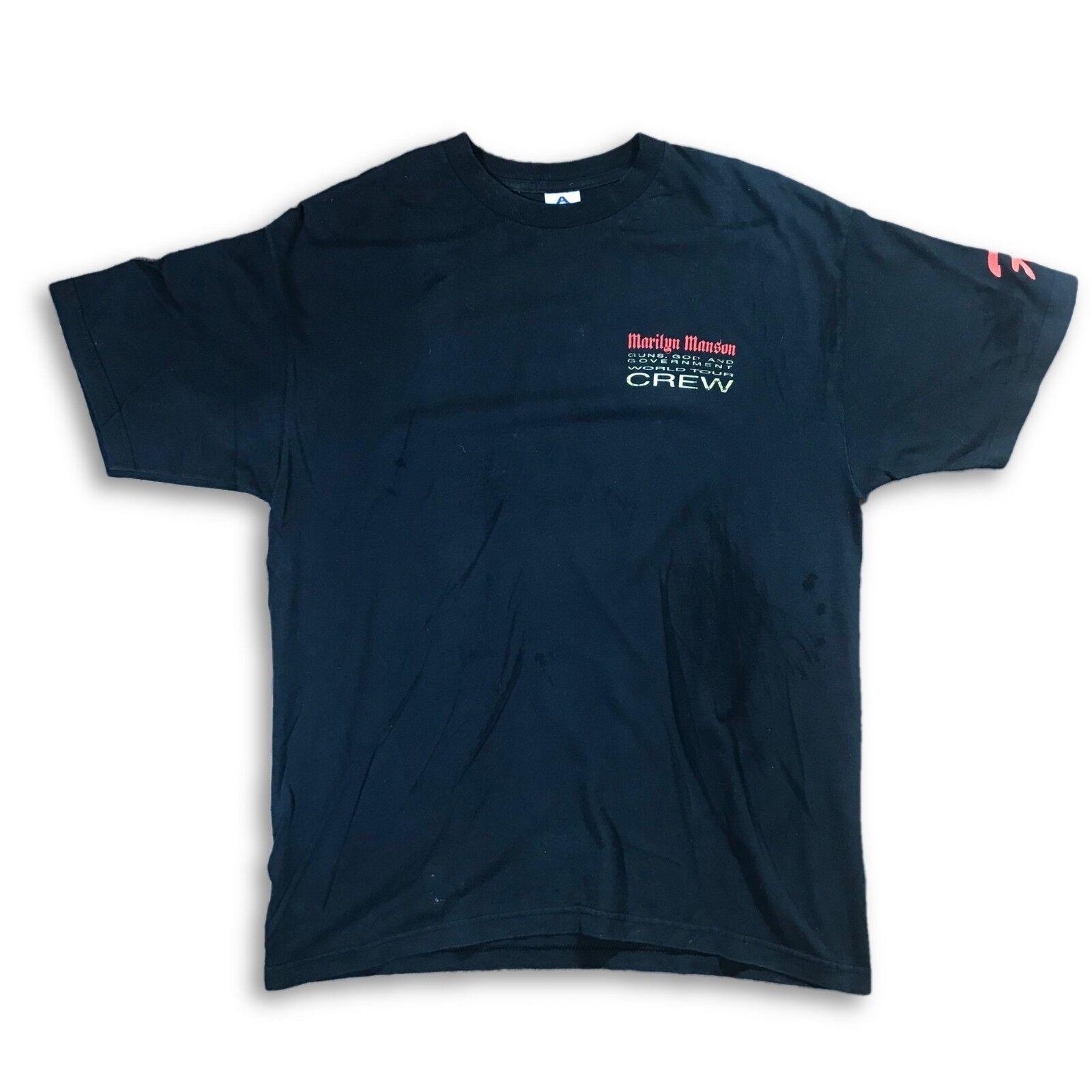 VTG 90's Marilyn Manson Tour Crew T-Shirt