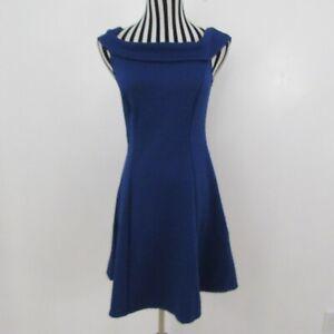 Vestido-estilo-tunica-Modcloth-Azul-Texturado-Hombro-Talla-L