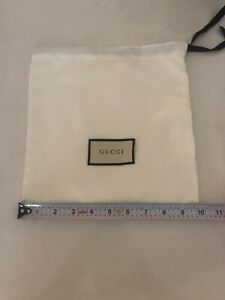 Authentic-GUCCI-white-Satin-recent-style-Drawstring-Dust-Bag-cover-10-x-9-5