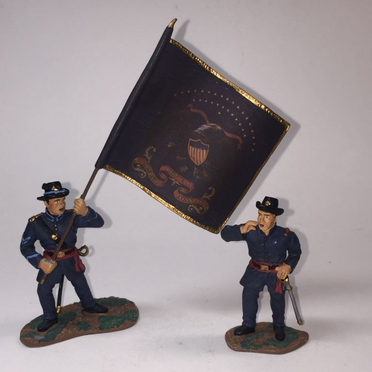 W. BRITAIN 17223 ACW GETTYSBURG CAVALRY UNION (only 2 pieces)