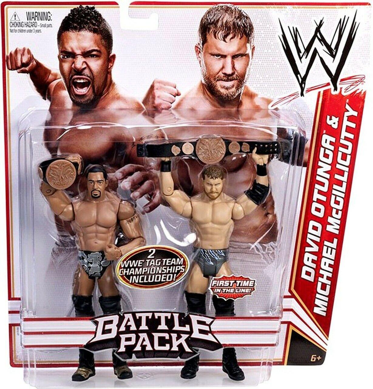 WWE MATTEL BATTLEPACK DAVID OTUNGA MICHEAL MCGILLICUTTY NEW MOC UNOPENED