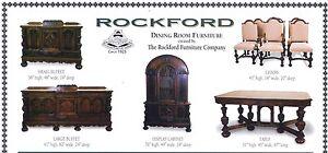 Rockford Dining Room Furniture Set Circa 1925 Ebay