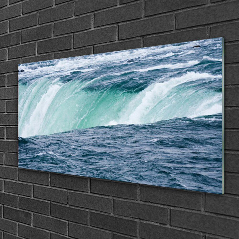 Glass print Wall art 100x50 Image Image Image Picture Waterfall Nature ae411f