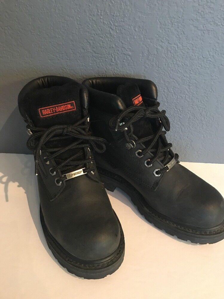Harley Davison femme cuir noir bottes cavalières 6 Presque comme neuf