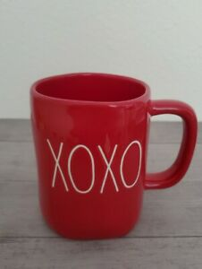 NEW-RAE-DUNN-by-Magenta-Valentine-039-s-Red-XOXO-Coffee-Tea-Mug-Farmhouse-Home-Decor