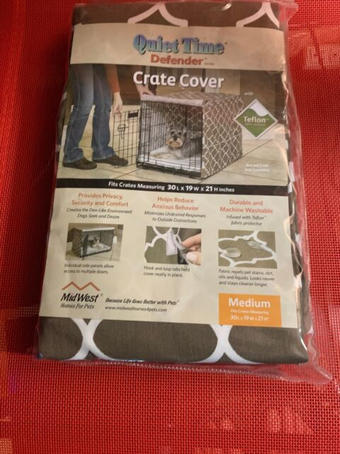 """Midwest Quiet Time Defender Series Stylish Brown Crate Cover for Dogs, 30"""" L"""