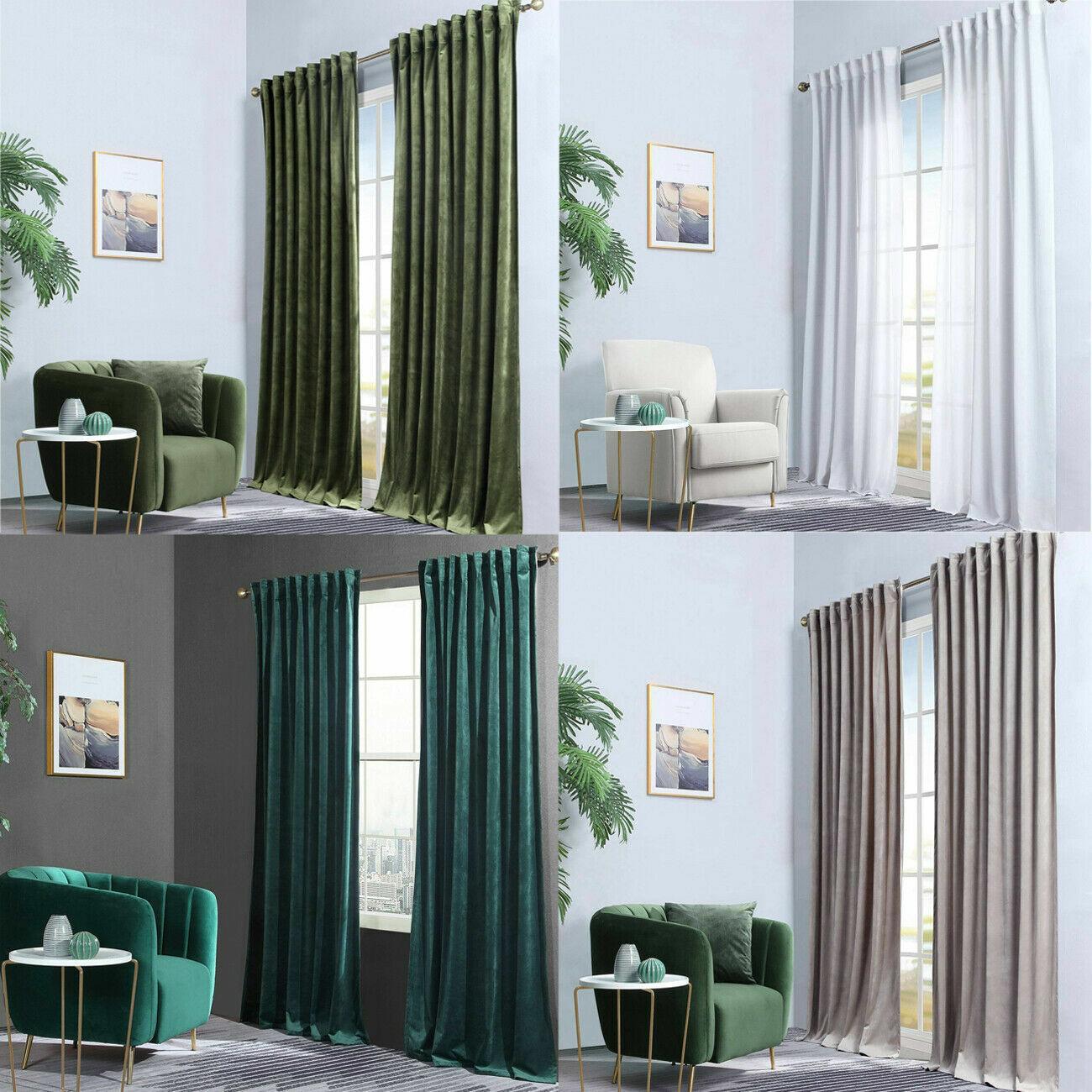 Large Bay Window Curtain Voile Drape Panel For Living Room Bedroom For Sale Online Ebay