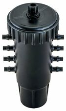 Black Octo-Flow PRO 8 Port Multi-GPH Adjustable Water Irrigation Manifold