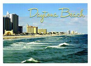 Image Is Loading Daytona Beach Florida Postcard Waves Beaches Hotels New