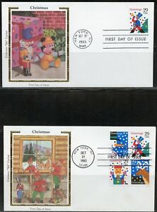 UNITED-STATES-COLORANO-CHRISTMAS-1993-SET-OF-FIVE-FIRST-DAY-COVERS