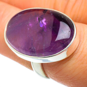 Large-Amethyst-925-Sterling-Silver-Ring-Size-6-Ana-Co-Jewelry-R41912F
