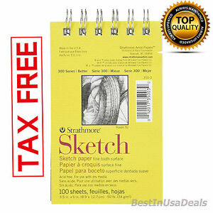 100-Sheets-Quality-Drawing-Paper-Pad-Sketch-Notebook-Art-Supplies-Sketchbook-NEW