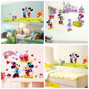Detalles De Mickey Minnie Mouse Niño Guardería Habitación Hogar Decoración Pared Calcomanías De Dibujos Animados De La Etiqueta De La Pared Ver