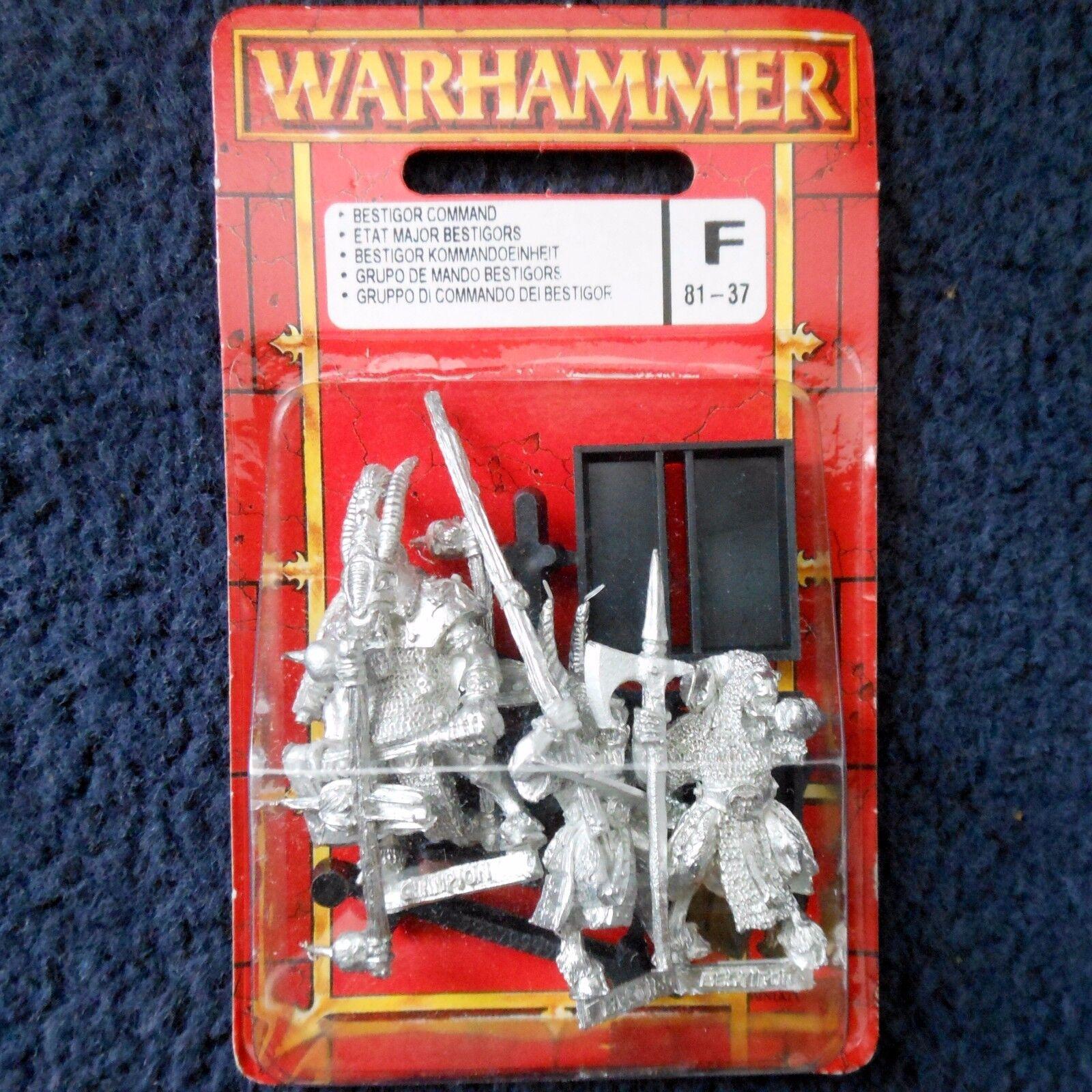 1997 Chaos Bestigor Command Musician Standard Citadel Warhammer Beastmen MIB GW