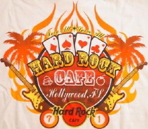 Hard-Rock-Cafe-HOLLYWOOD-FL-2006-City-Tee-T-SHIRT-Men-039-s-White-MEDIUM-New-w-Tags