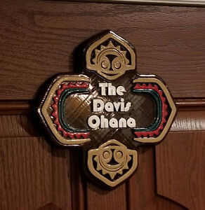 Details about Polynesian Themed Personalized Family Last Name Sign!! (  Disney Inspired Prop )
