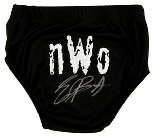 WWE-WWF-ERIC-BISCHOFF-HAND-SIGNED-AUTOGRAPHED-WRESTLING-TRUNKS-WITH-PROOF-amp-COA