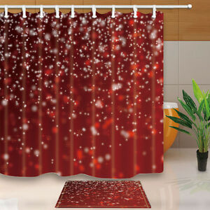 Image Is Loading Christmas Snowflakes Bathroom Decor Shower Curtain Waterproof Fabric