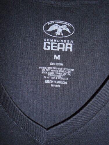 New commander Gear black T shirt size medium V NECK with Duck logo in Sparkles
