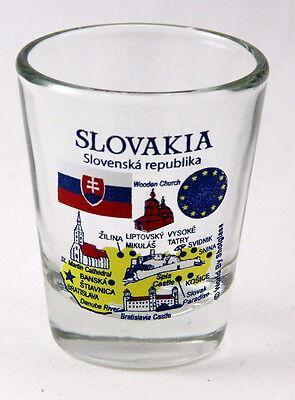 SLOVENIA EU SERIES LANDMARKS AND ICONS COLLAGE SHOT GLASS SHOTGLASS