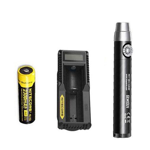 Nitecore GEM10UV GEM IDENTIFICATION Flashlight w NL183 Battery + UM10 Charger