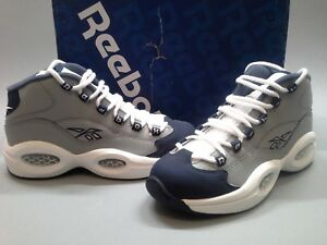 New-Reebok-Iverson-Question-Mid-Navy-Grey-White-J99179-Georgetown-Hoyas-GS