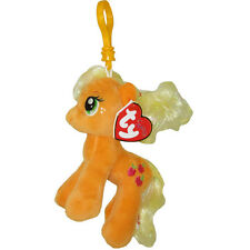 TY Beanie Baby - APPLEJACK w/Glitter Hairs (My Little Pony) (Key Clip - 5 inch)