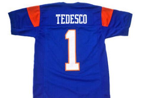 Harmon Tedesco #1 Mountain Goats Football Jersey Blue State TV Uniform Costume