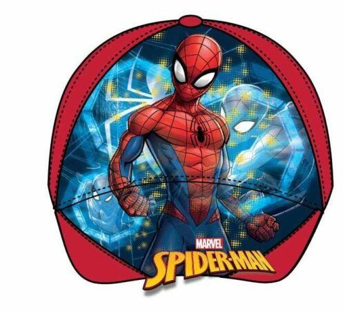 Boys Kids Children Spiderman Cars Summer Sun Baseball Cap Hat Age 3-9 Years
