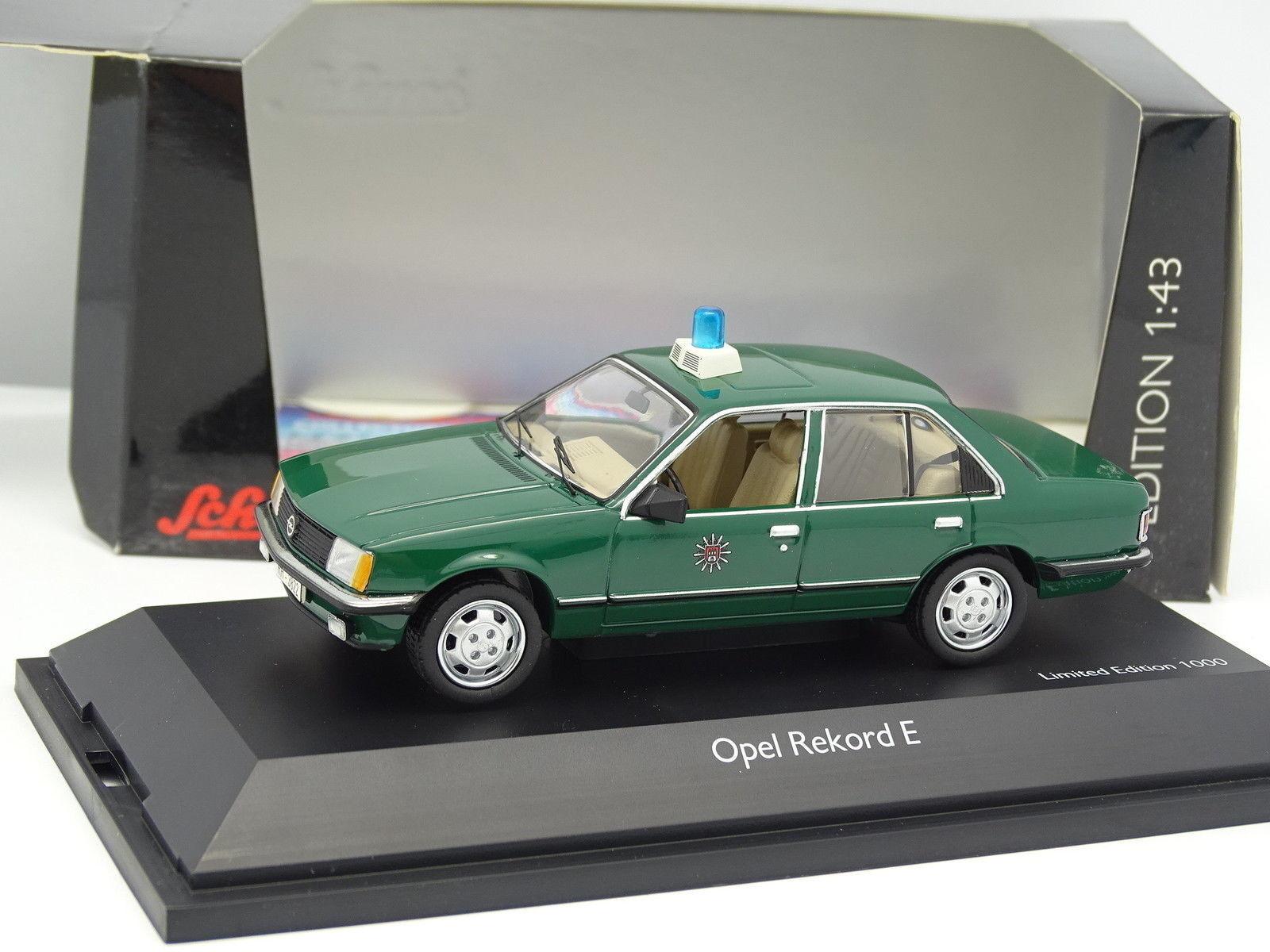Schuco 1 43 - Opel Rekord E Polizei