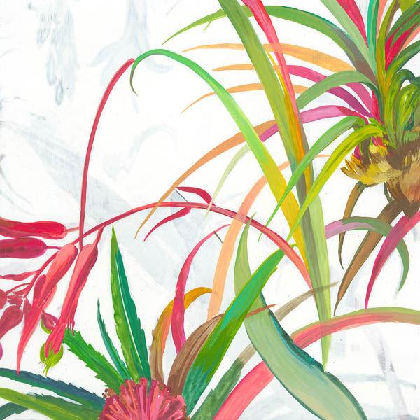 Asia Jensen  Tropical II Keilrahmen-Bild Leinwand Palmen Tropen Südsee bunt