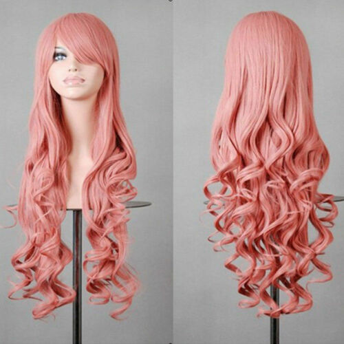31/'/' Ladies Long Blonde Hair Wigs Nature Wavy /& Straight Cosplay Party Full Wig