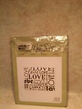 Stampin Up Sizzix Big Shot Letterpress Lots of Love New With instructions