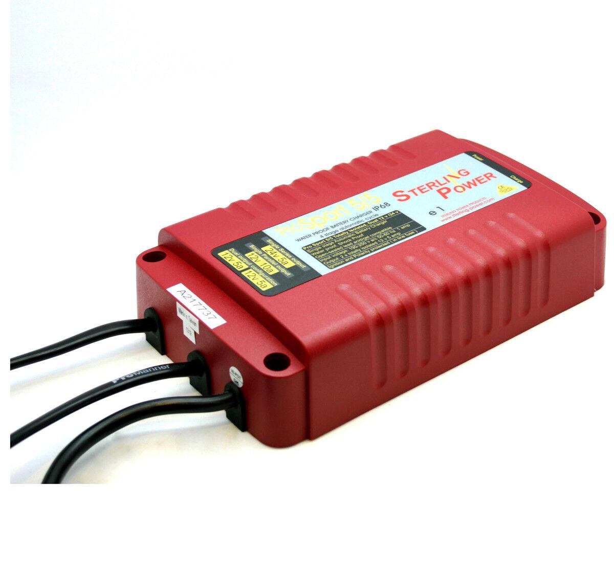 Sterling Power PROSPORT 5/5 IP68 10A wasserdicht marine Batterieladegerät ps1255 ps1255 ps1255 47e123