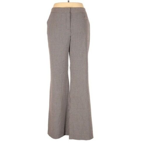 Trina Turk Checkered Grey Trouser Dress Pants