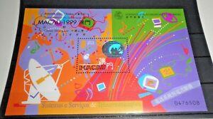 FRANCOBOLLI-MACAU-1999-034-COMUNICAZIONI-TELECOMMUNICATIONS-034-MNH-BLOCK-CAT-5