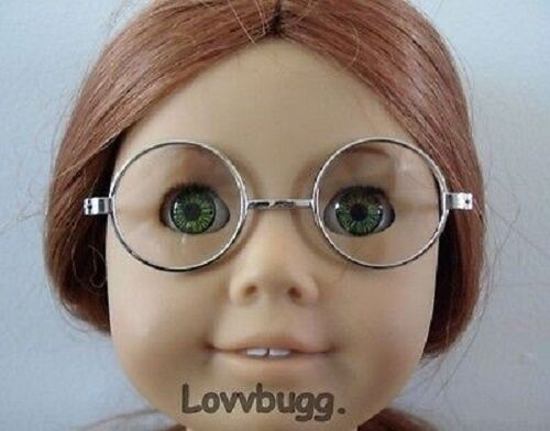 "Lovvbugg Silver Wire Frame Eye glasses for 18"" American Girl Doll Accessory"
