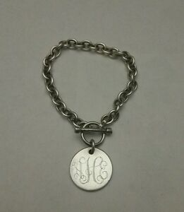 Sterling-Silver-Bracelet-Inscribed-Signature-Design-Marked-925-FREE-SHIPPING
