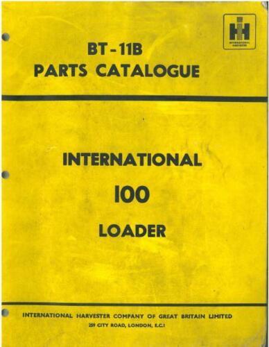 B 100 Cargador internacional Manual De Piezas B100-B-100