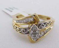 Genuine 1 Carat Diamond Engagement Ring 10k Gold Free Shipping & Appraisal