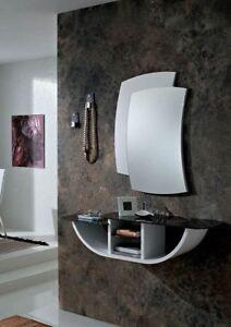 Consolle Moderne Colorate.Dettagli Su Mobile Ingresso Moderno Gondola Consolle Vetro Colorato Specchio Varie Finiture