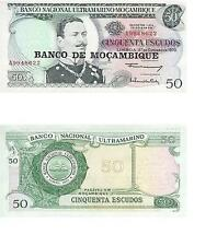 MOZAMBIQUE 4 PIECE UNC BANKNOTE SET, 50 - 1000 ESCUDOS