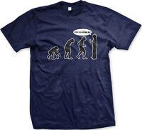 Evolution of Man - Stop Following Me! Funny Humor  Mens T-shirt