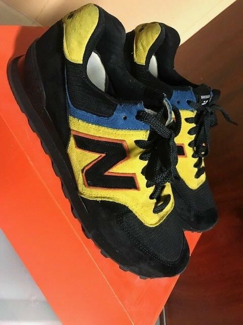 New Balance US 564 M1 Black Yellow Royal bluee Sz 8.5 Men Velvet Made In USA NB