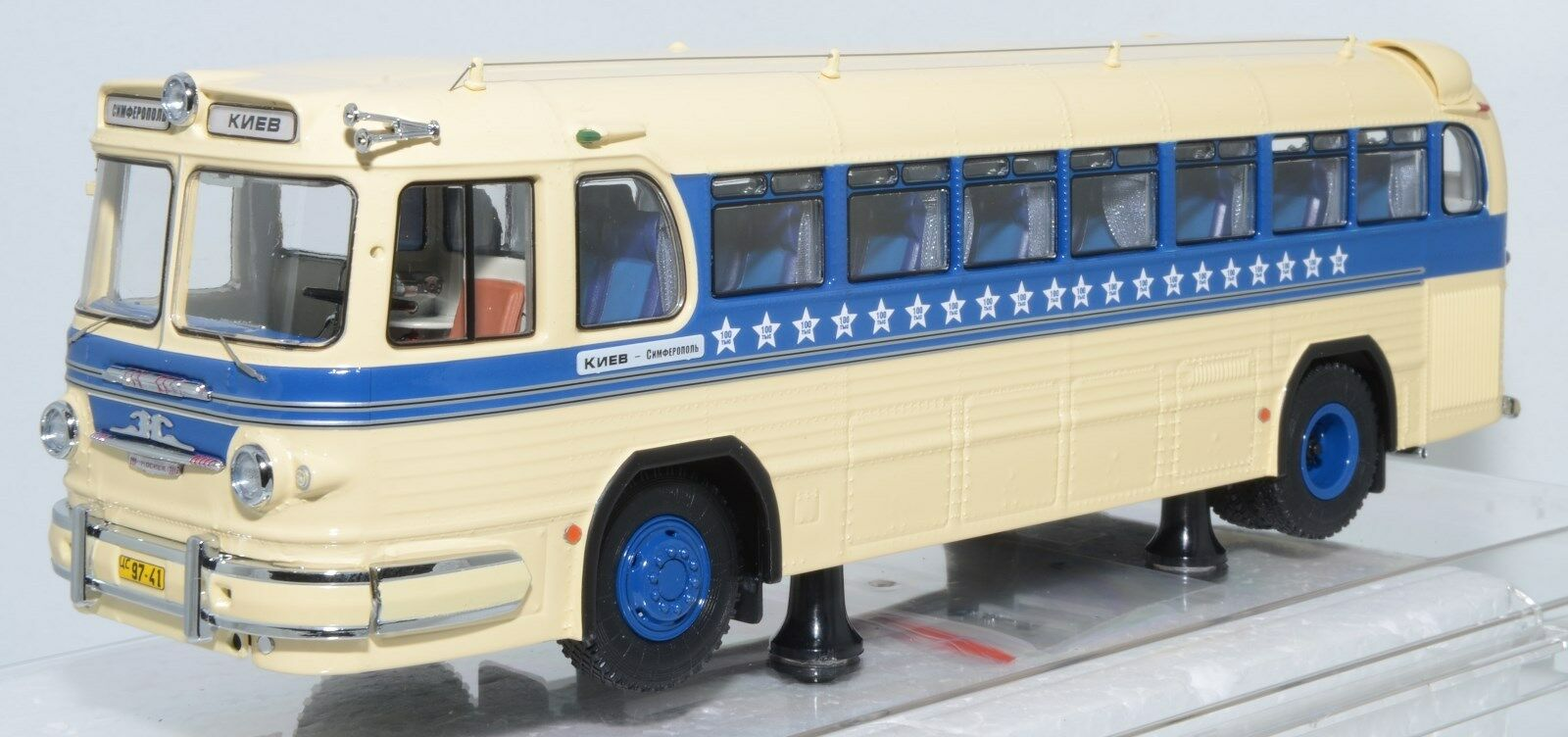 Modelos Dip 702 ruso soviético Bus ZIS 127 SIMFEROPOL-Kiev 1967 USSR CCCP