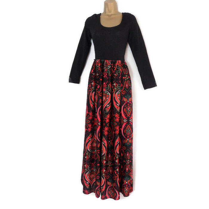 Vintage BERKERTEX 1950s Dress Shawl Paisley Print Theatre Costume Gypsy Romany