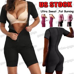 Women Neoprene Full Body Shaper Ultra Sweat Weight Loss Yoga Bodysuit Sauna Suit