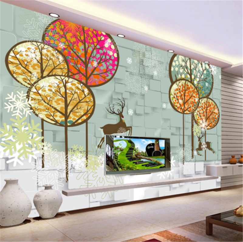 3D ColGoldt Tree Pattern 905 Wallpaper Mural Paper Wall Print Wallpaper Murals UK