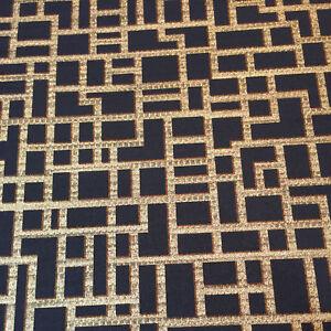3d Geometric Wallpaper Metallic Shiny Gold Black Luxury Textured
