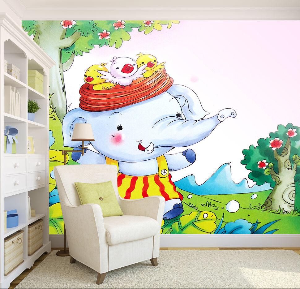 3D Elephant 509 Wallpaper Murals Wall Print Wallpaper Mural AJ WALLPAPER UK